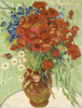 Vase with Marguerites Van Gogh Reproduction Framed Painting Image Canvas Print