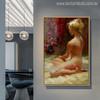 Naked Girl Wonderful Watercolor Mural Print for Living Room Decor