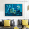 The Old Guitarist Pablo Picasso Reproduction Framed Painting Image Canvas Print for Room Wall Garnish