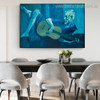 The Old Guitarist Pablo Picasso Reproduction Framed Painting Image Canvas Print for Room Wall Outfit