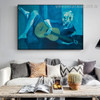 The Old Guitarist Pablo Picasso Reproduction Framed Painting Image Canvas Print for Room Wall Getup