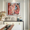 Les Demoiselles d'Avignon Pablo Picasso Reproduction Framed Painting Image Canvas Print for Room Wall Onlay