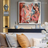 Les Demoiselles d'Avignon Pablo Picasso Reproduction Framed Painting Image Canvas Print for Room Wall Ornament