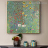 Garden with Sunflowers Gustav Klimt Botanical Reproduction Framed Portraiture Pic Canvas Print for Room Wall Finery