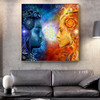 Shiv and Shakti Religious Modern Framed Artwork Picture Canvas Print for Room Wall Ornament