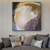 Portrait of Danae Gustav Klimt Framed Artwork Photo Canvas Print for Room Wall Decor