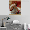 Half Unclad Girl in White Colour Half-Nude Dress Canvas Print