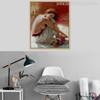 Half Unclad Girl in White Colour Half-Nude Dress Canvas Print