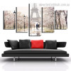 Paris Tower Cityscape Modern Framed Painting Photo Canvas Print for Room Wall Decoration