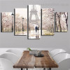 Paris Tower Cityscape Modern Framed Painting Photo Canvas Print for Room Wall Garnish