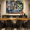 Les Femmes d'Alger Picasso's Reproduction Framed Artwork Photo Canvas Print for Room Wall Garnish