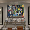 Les Femmes d'Alger Picasso's Reproduction Framed Artwork Photo Canvas Print for Room Wall Onlay