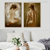 Stark Naked Girls Watercolor Painting Canvas Print