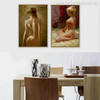 Stripped Girls Lovely Watercolor Painting Print for Home Decor Art