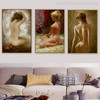 Nude Position Girls Watercolor Painting Print for Home Decor