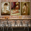 Nude Position Girls Watercolor Painting Print for Hotel Decoration
