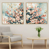 Dogwood Flowers Traditional Painting Print for Wall Decor