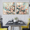 Dogwood Flowers Painting Print for Dining Room Wall Decor