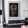 African Lady Figure Framed Artwork Picture Canvas Print for Room Wall Assortment