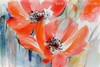Abstract Watercolor Red Poppies Painting Print