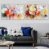 Poppy Flowers Abstract Modern Watercolor Painting Canvas Print