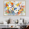 Hued Poppies Abstract Watercolor Painting Print for Home Decor