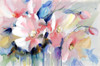 Pink Poppy Elegant Abstract Watercolor Painting Print