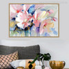 Pink Poppy Elegant Abstract Watercolor Painting Canvas Print