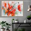 Red Poppy Flower Watercolor Art Canvas Print