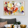 Gaudy Poppies Flower Painting Print for Living Room Wall Art