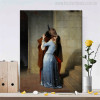 Kiss is an 1859 Painting Canvas Print