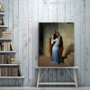 Kiss is an 1859 Painting Canvas Print for Living Room Wall Decor
