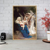 The Virgin with Angels Painting Print for Living Room Wall Decor