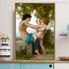 A Young Girl Defending Herself Against Eros Painting Print
