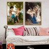 Angels Painting Print for Bedroom Wall Hanging