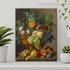 The Fruit Bowl Floral Reproduction Framed Painting Photo Canvas Print for Room Wall Molding