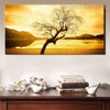 Dry Tree Landscape Nature Framed Painting Image Canvas Print for Room Wall Garniture