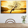 Dry Tree Landscape Nature Framed Painting Image Canvas Print for Room Wall Outfit