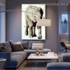 Jungly Elephant Animal Modern Framed Artwork Image Canvas Print for Room Wall Decoration