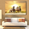 Running Mares Animal Nature Framed Painting Photo Canvas Print for Room Wall Ornament