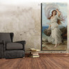 Miranda Thomas Francis Dicksee Reproduction Figure Framed Painting Image Canvas Print for Room Wall Disposition