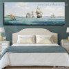 Ocean Waves Abstract Modern Framed Artwork Portrait Canvas Print for Room Wall Getup