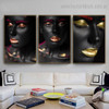 African Wenches Figure Modern Framed Artwork Image Canvas Print for Room Wall Drape