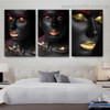 African Wenches Figure Modern Framed Artwork Image Canvas Print for Room Wall Finery
