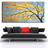 Dried Ramule Abstract Botanical Modern Framed Artwork Picture Canvas Print for Room Wall Adornment
