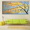 Dried Ramule Abstract Botanical Modern Framed Artwork Picture Canvas Print for Room Wall Decoration
