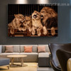 Lion Couple Animal Modern Framed Painting Photo Canvas Print for Room Wall Getup
