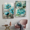 Floral Burgeon Abstract Nordic Framed Effigy Image Canvas Print For Room Wall Decor