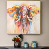 Colorful Elephant Watercolor Painting Canvas Print for Home Decor
