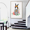 Pirate Rabbit Animal Illustration Modern Framed Artwork Photograph Canvas Print for Room Wall Outfit